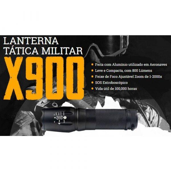 LANTERNA TÁTICA X900 LED